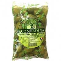 Оливки зеленые с косточкой 850г La Contadina М / В (1/10)