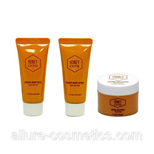 Набор пробников для ухода за телом ETUDE HOUSE Honey Cera Body wash and lotion