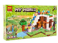 """Конструктор Bela 10624  Майнкрафт """"База на водопаде"""" (аналог LEGO 21134) 747 деталей"""