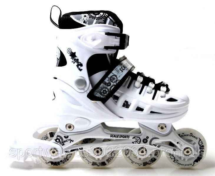 Ролики Scale Sport. White. 29-33, 34-37,38-41