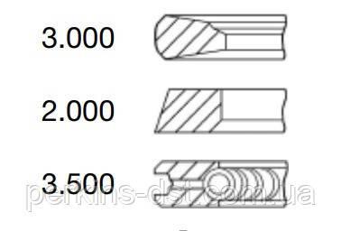 Поршневые кольца для двигателя Deutz BF4M1013, запчасти Deutz