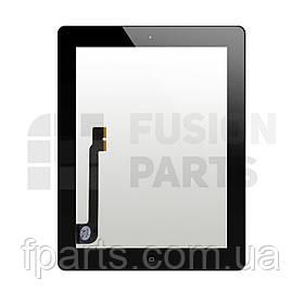 Тачскрин iPad 3, iPad 4 (A1416/A1430/A1403/A1458/A1459/A1460) с кнопкой (Black)