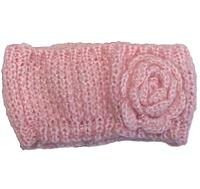 Вязаная розовая повязка на голову для девочки, Mothercare, 7567610