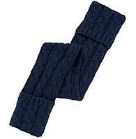Вязаные синий шарф для девочки, Mothercare, 7566521