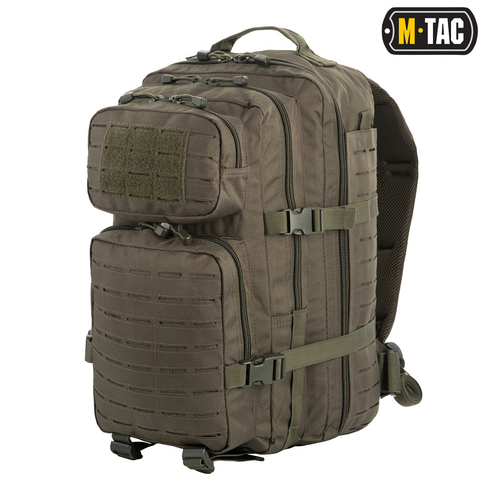 Рюкзак M-Tас  Large Assault Pack Laser Cut Olive, 36 літрів. Новий товар.