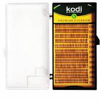 Брови Natural Curl (натуральный завиток) Kodi Professional 0.1 (12 рядов: 4-8) натурально-коричневые