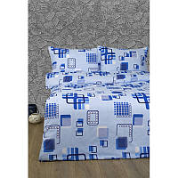 Постельное белье Lotus Ranforce - Geometry голубой семейное