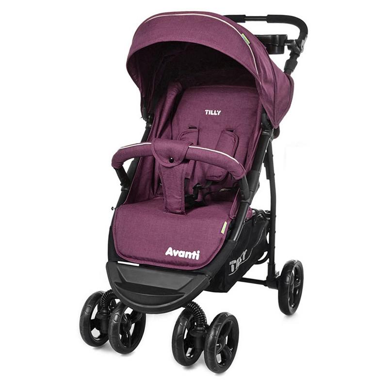Коляска прогулочная Avanti, «Tilly» (T-1406), цвет Purple (фиолетовый в льне)