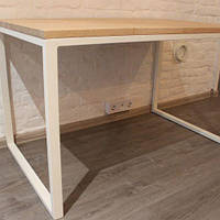 Стіл письмовий Woodluck офісний з бука 18 мм, метал 40х20, loft