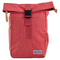 Рюкзак городской Smart Roll-top T-70 Coral, для девочек, розовый (557582)