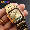 Мужские классические часы Skmei 1220 золотого цвета