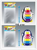 Ксилофон 30112A/B пингвин 16 см 2цв.кул.ш.к./240/(30112A/B)