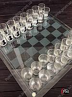 Шахматы стеклянные чёрные (39х39х6 см)