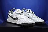 Сороконожки,футбольные кроссовки Nike Tiempo белые, фото 2