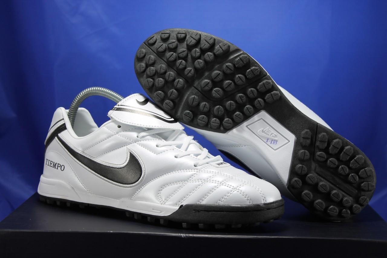 Сороконожки,футбольные кроссовки Nike Tiempo белые