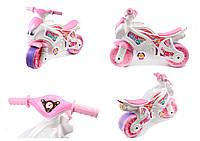 Мотоцикл бело-розовый для девочек в кор. Технок /2/(5798)