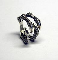 Кольцо серебряное Когти Динозавра