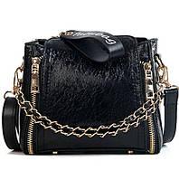 Маленькая женская модная оригинальная сумка черная