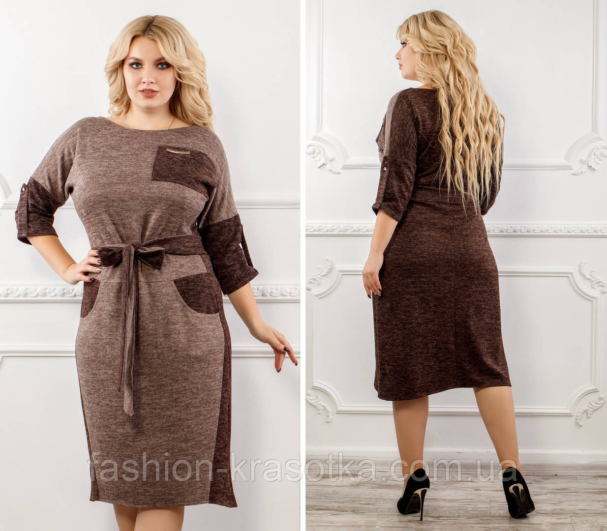 Нарядное женское платье больших размеров,ткань ангора софт