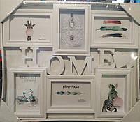 "Фоторамка семейная ""Home"" 49*42см, на 6 фото, белая (BH1701-1)"
