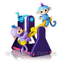 Набор Fingerlings интерактивные обезьянки Вилли и Милли на игровой площадке WowWee