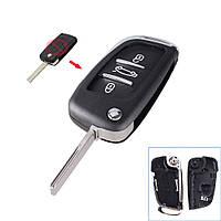 Корпус выкидного ключа Citroen 3 кнопки ., фото 1