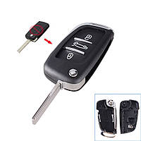 Корпус выкидного ключа Peugeot 3 кнопки ., фото 1
