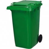 Контейнер для мусора уличный на колесах с крышкой, 240 л