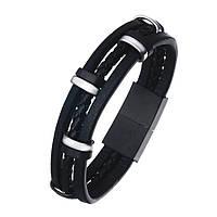 Мужской кожаный браслет - Тритон