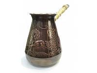 Турка медная Мустанг (500мл) серебро, фото 1