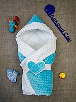 Плюшевый теплый  конверт-одеяло 100х80 см, фото 1