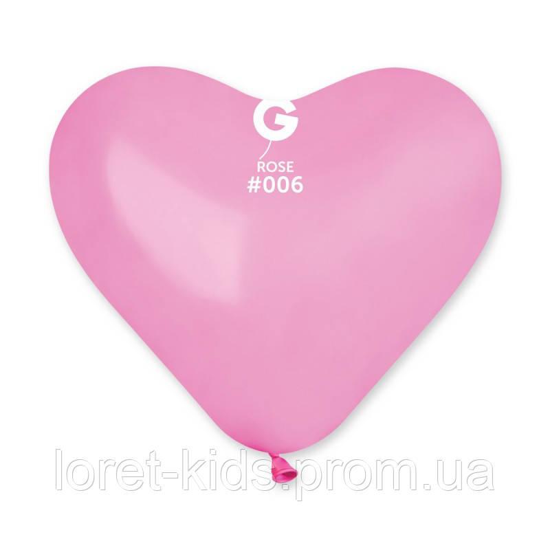 """Сердце 10"""" (25 см) розовое пастель. Купить воздушные шарики в форме сердца"""