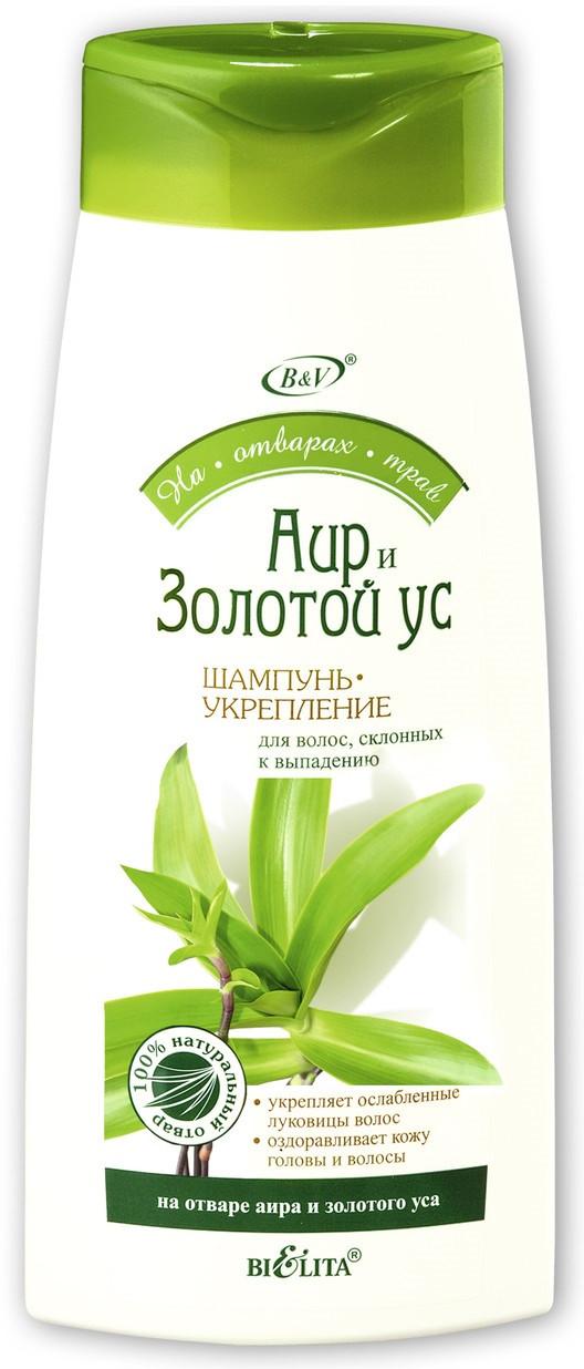 Шампунь-укрепление АИР И ЗОЛОТОЙ УС для волос склонных к выпадению