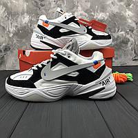 Мужские кроссовки Nike M2K Tekno x Off-White White\Black  (ТОП РЕПЛИКА ААА+)