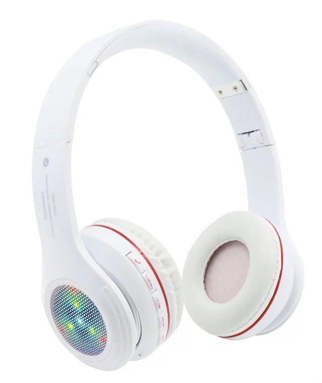 Накладные беспроводные светодиодные наушники Solo Beats S460 L, Bluetooth БЕЛЫЕ