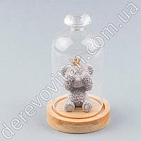 """Медвежонок """"Тедди"""" в стеклянной колбе, серый, ароматизированный, 7.5×12 см"""