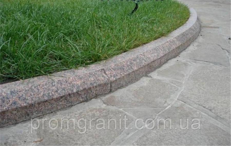 Гранітний бордюр для садових доріжок