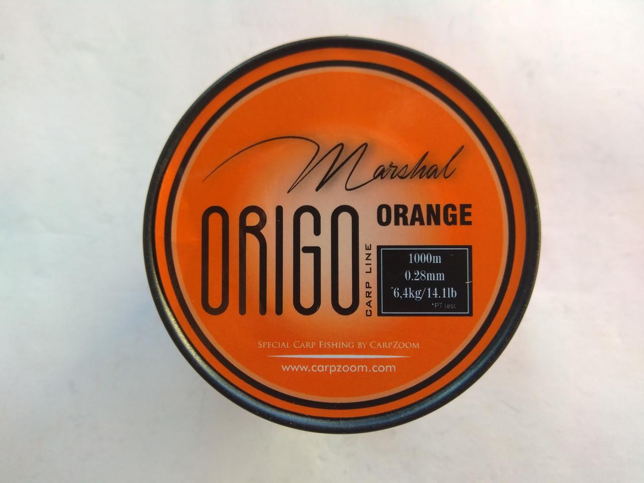 Леска Marshal Origo Carp Line 1000м  0.37, Оранжевый