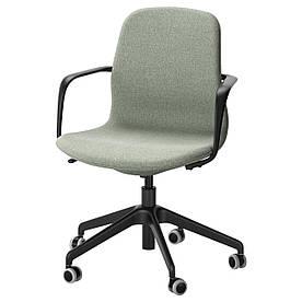 IKEA LANGFJALL (391.780.02) Рабочий стул, Gunnared светло-розовый, белый