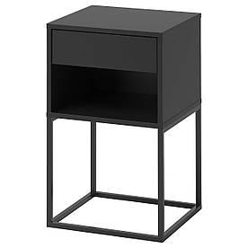 IKEA VIKHAMMER (203.889.72) тумбочка, чорний