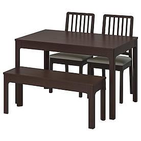 IKEA EKEDALEN / EKEDALEN (792.213.10) Стіл з 2 стільцями і лавою, темно-синій