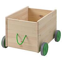 IKEA FLISAT (102.984.20) Ящик для игрушек на колесах