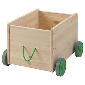 IKEA FLISAT (102.984.20) Ящик для іграшок на колесах