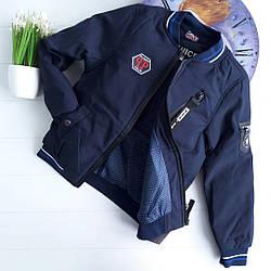 Демисезонная куртка-американка из плащевки на мальчика