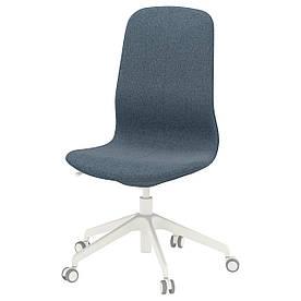 IKEA LANGFJALL (292.525.11) Робочий стілець, Gunnared світло-рожевий, білий