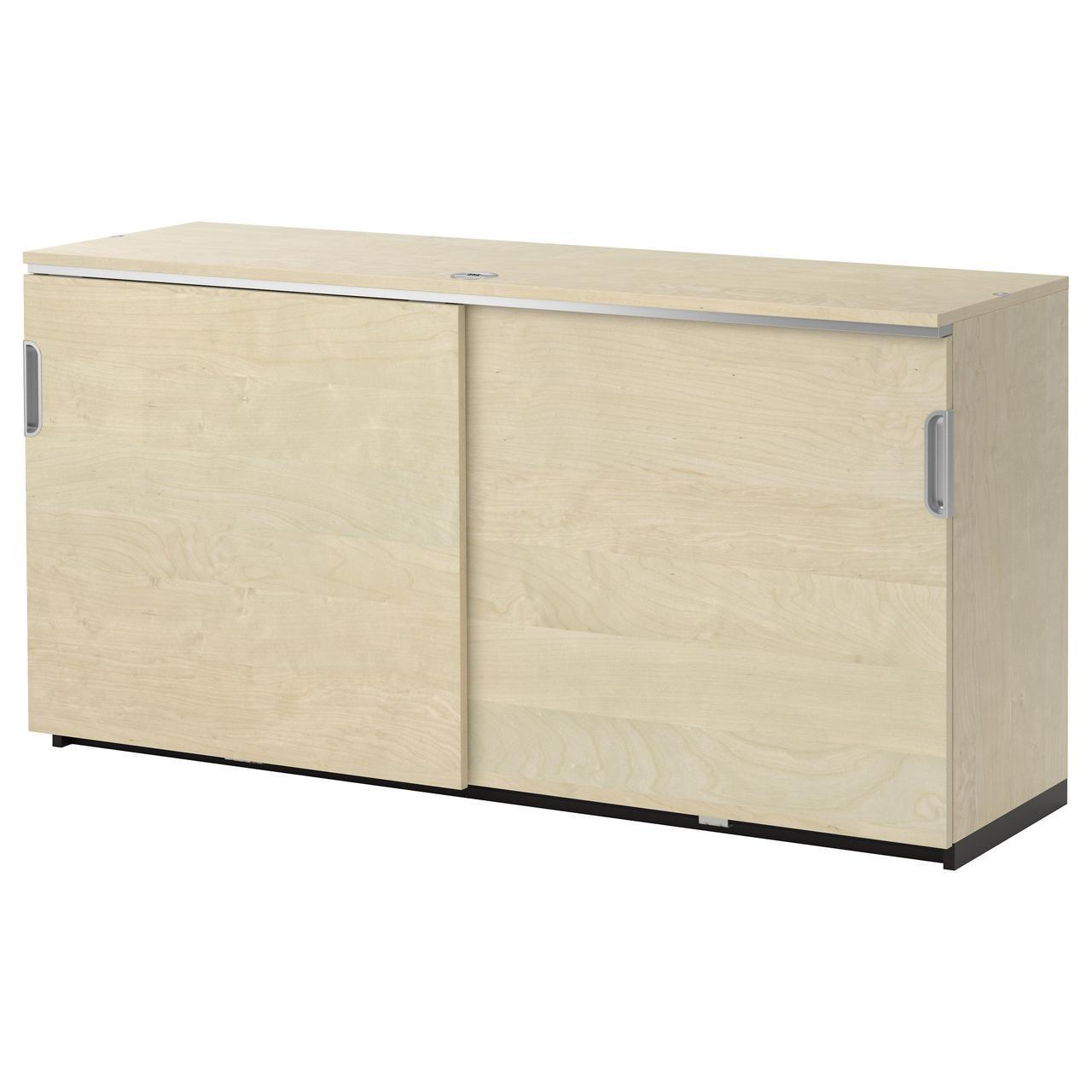 IKEA GALANT (003.381.86) Шкаф с раздвижными дверями, серый