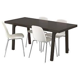 IKEA VASTANBY/VASTANA / LEIFARNE (691.306.12) Стіл і 4 стільця, темно-коричневий