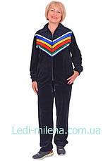 Женский велюровый костюм больших размеров 12-10, фото 3