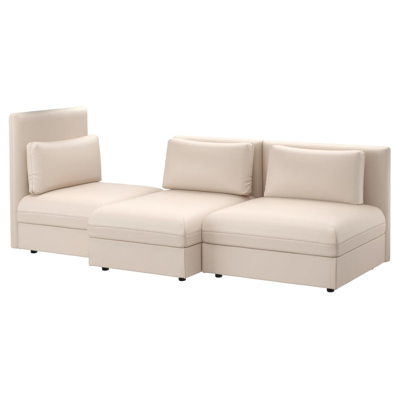 IKEA VALLENTUNA (491.495.23) 3-местный диван, Murum black
