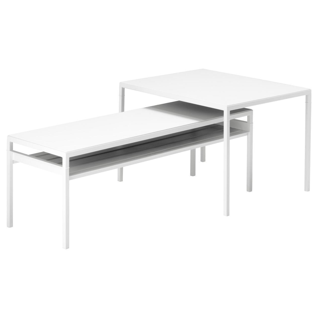 IKEA NYBODA (292.083.25) Столы с двухсторонним верхним, 2 шт., Черный/белый